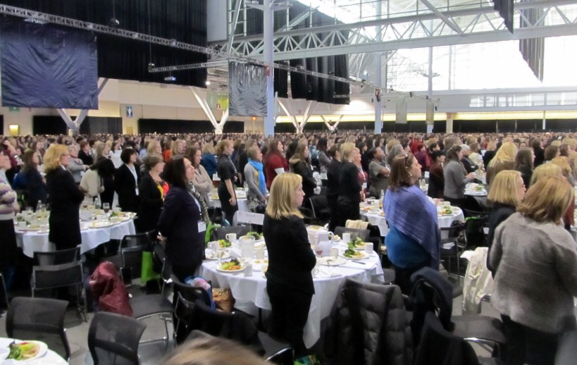 8000 women at the Massachusetts Conference for Women luncheon...I may not had the inner circle seats, but got the messages loud and clear