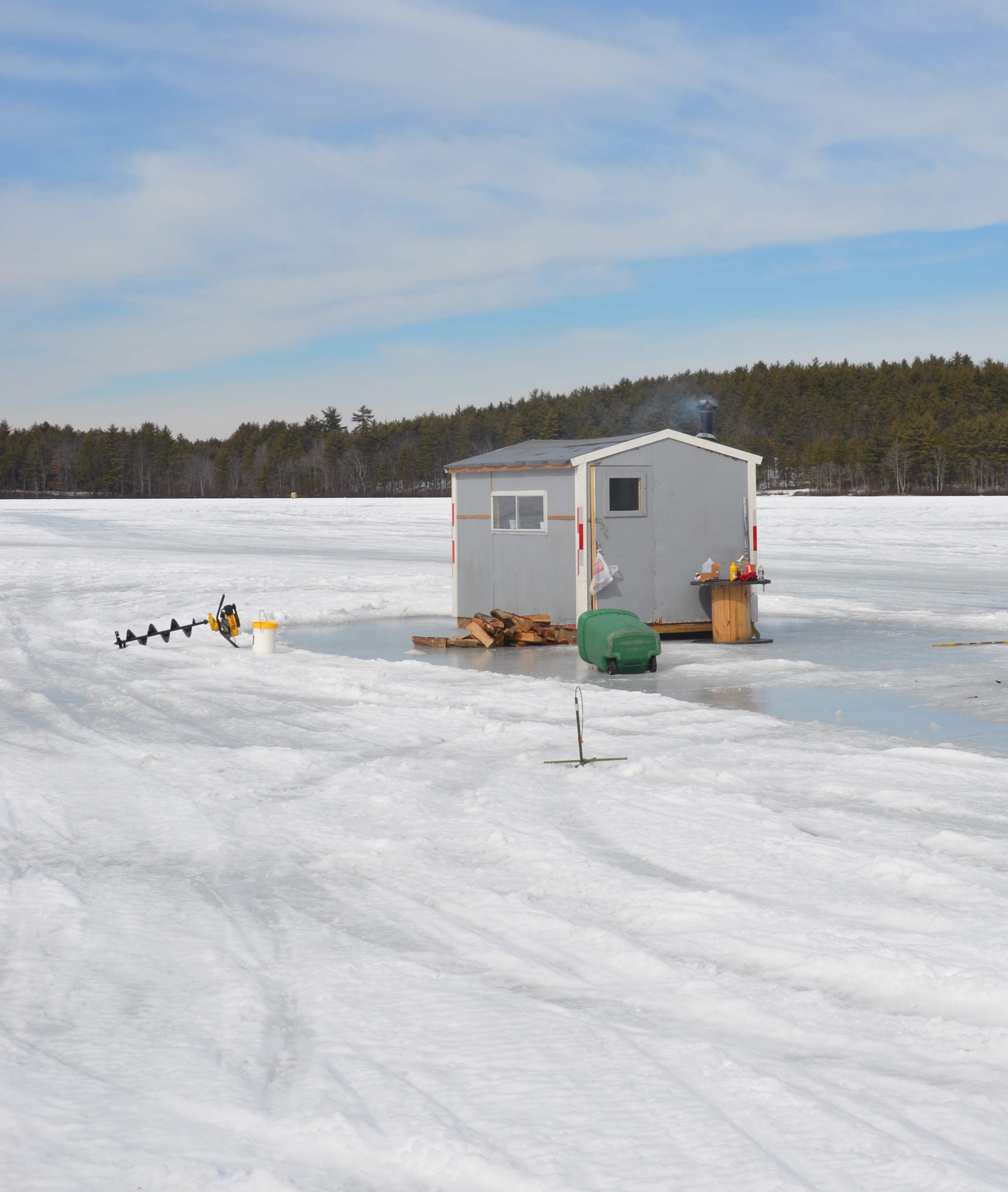 8 things learned about ice fishing in 15 minutes atop a for Ice fishing hut
