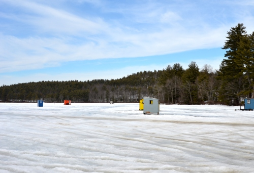 Ice fishing bobhouses