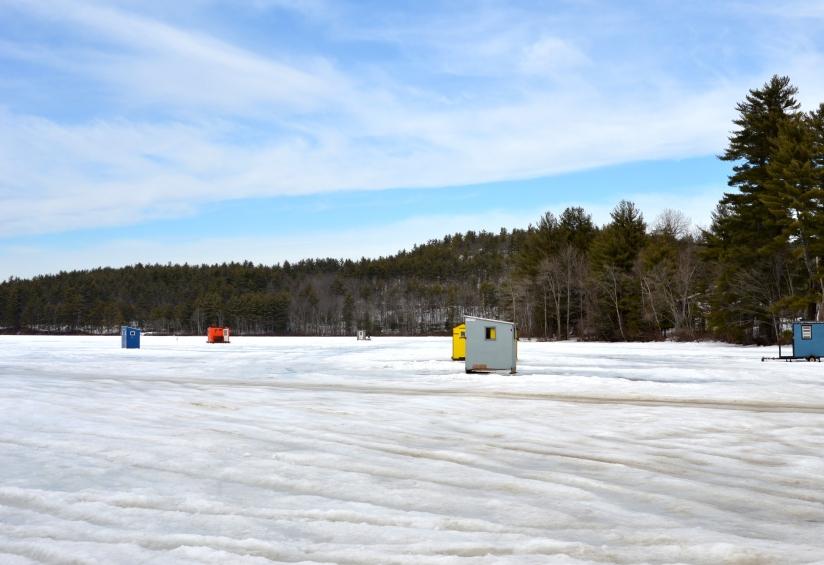 Ice fishing bobhouses