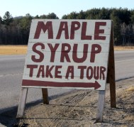 Harding Hill Maple Syrup Tour Sign