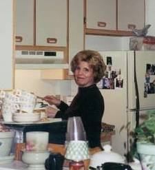 Dawn in her kitchen, Happily making Italian specialties