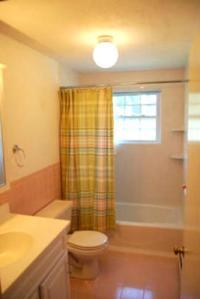 Renters always like my apt's clean bathroom