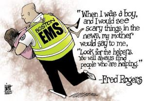 Fred Rogers Quote, Bixh Cartoon shared by George Takei