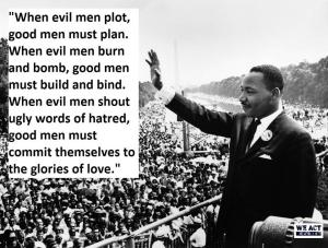 Martin Luther King, Jr. quote and image shared by Mark Harry Harding
