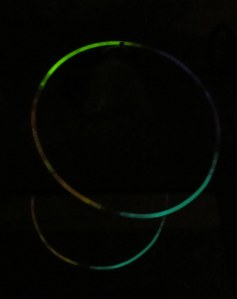 Double exposure Glow Stick in Mirror