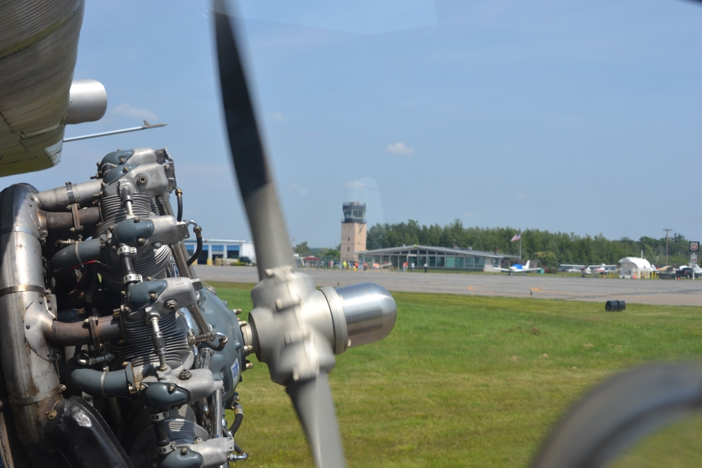 Lawrence Airport Tower and Engine of Tri-Motor