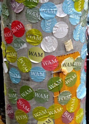 WAM VISITOR CREATED ART ON A LAMP POST