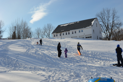 Sledding can burn 346 calories per hour