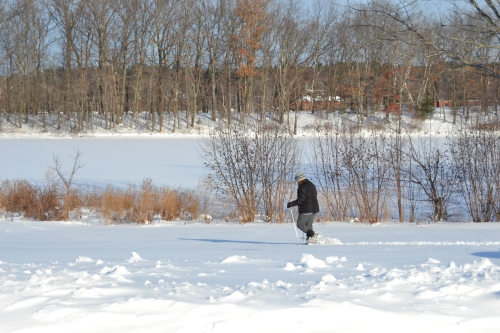 Snow shoeing Haverhill