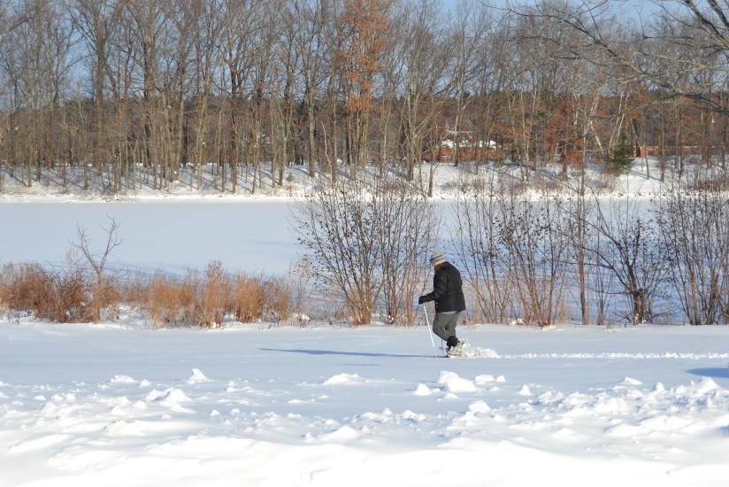 Snow shoeing Haverhill