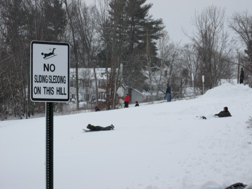 Sledding, No Sledding Haverhill