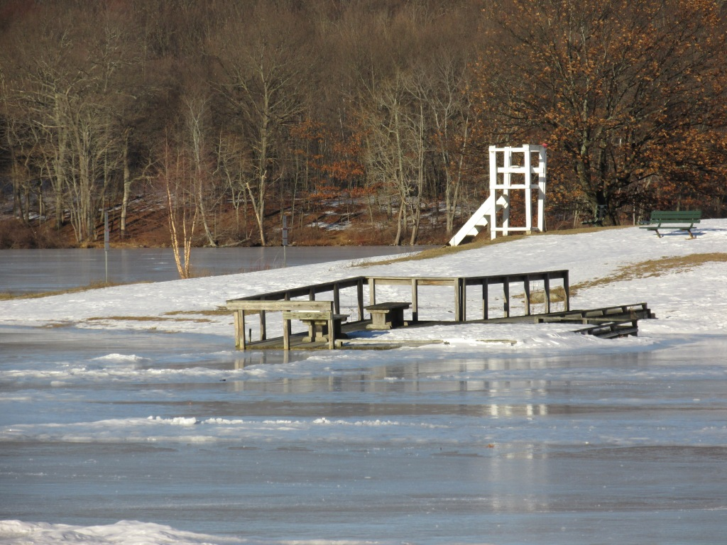 The beach will be open in no time. Plug Pond Haverhill