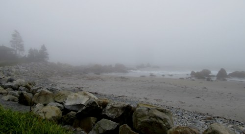 Foggy morn at White Point Inn