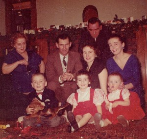 CCI12212014 (1) Christmas 1959 Kids Bobby Karen Alison Grandparents Ora Donald Parents Walter Nancy Shirley