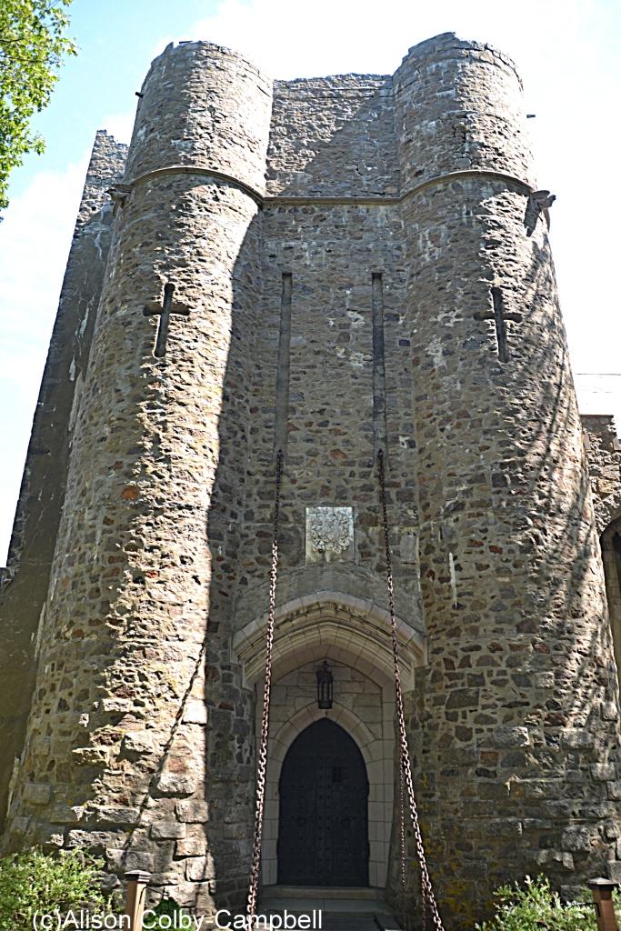 Hammond Castle at the draw bridge