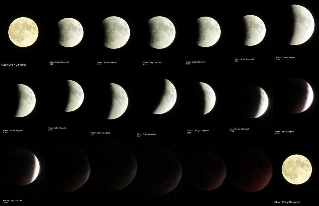 Haverhill Full moon eclipe 09.27.2015 collage