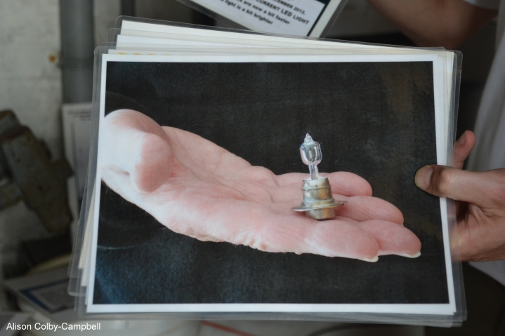 from a photo display on Wood ISland tour - Current LED light bulb for Wood Island Light