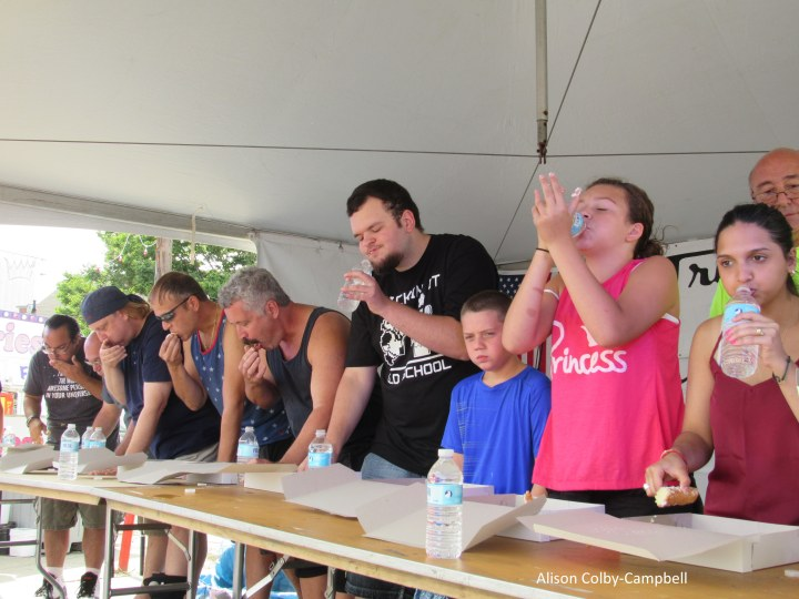 IMG_6140 Lawrence Cannoli eating contest feat of the three saints
