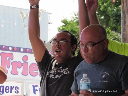 IMG_6171 Lawrence Cannoli eating contest feat of the three saints