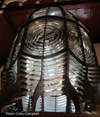 Fresnel lens from Cape Forchu light in Yarmouth County Museum Yarmouth NS