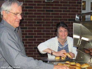 The Boss and chef and the Pastor's wife and chef Leslie Holmquist