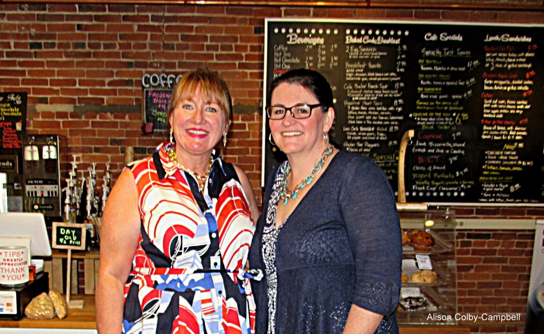 IMG_6657 Haverhill Alison Colby-Campbell and Elisabeth Brady of Modern Woodmen at Bradford Place Cafe