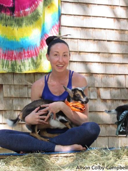 IMG_8072 Boxford Merril Goat Yoga with Logan and Sloan
