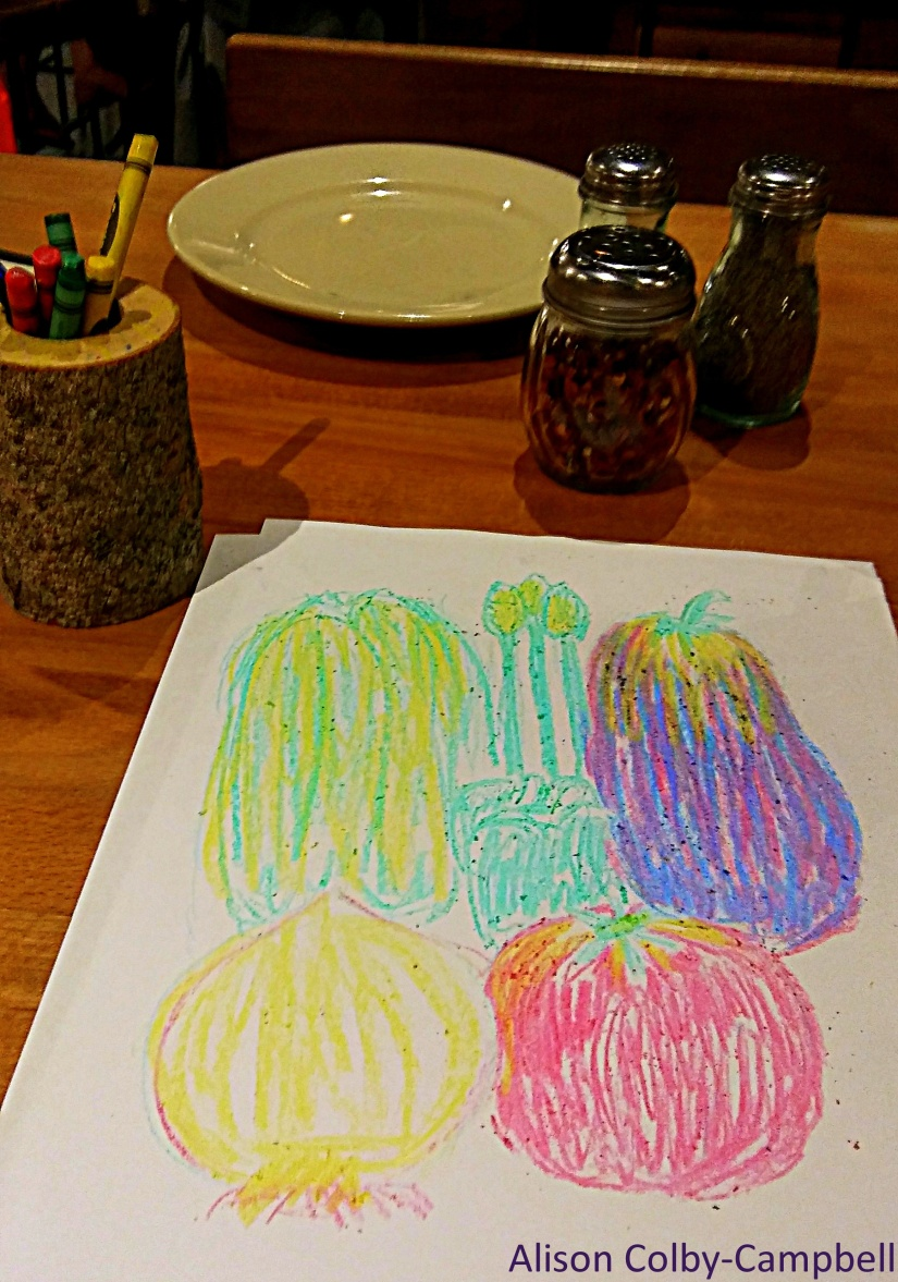 Flatbread Pizza Georgetown drawing crayons