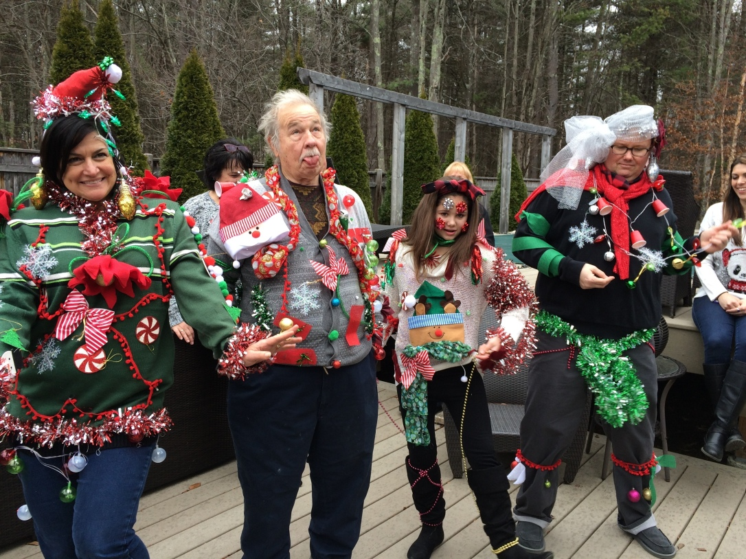 Writing contest 2016 IMG_1108 Pams Pic ugly sweater contestants