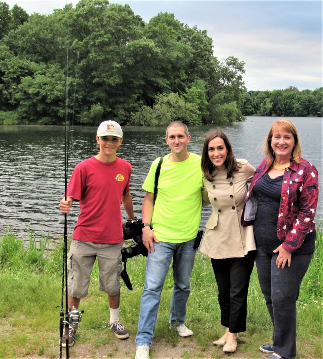 IMG_9912 (3) HAV Alison Colby-Campbell Plug pond with Josh Penney 17yo Fox 25 Shawn Denoncour Christine McCarthy and Alison Colby-Campbell